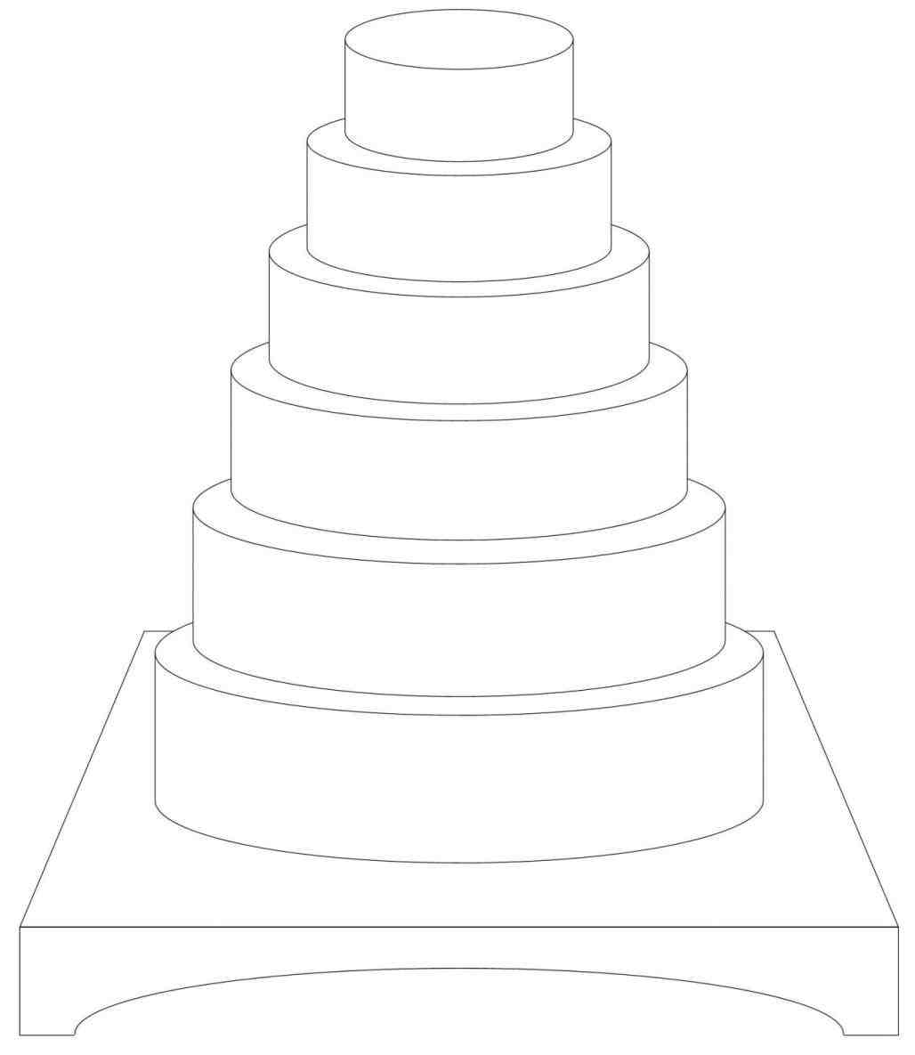 wedding cake box design templates cake drawing template at getdrawings free for 22060