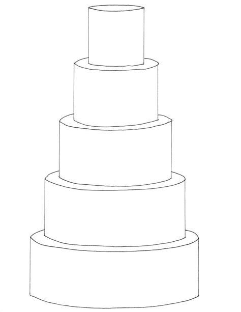 474x613 Wedding Cake Illustration Template