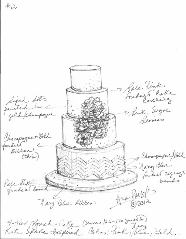 613x790 Wedding Cake Sketch Templates For The Love Of Cake Garry Ana