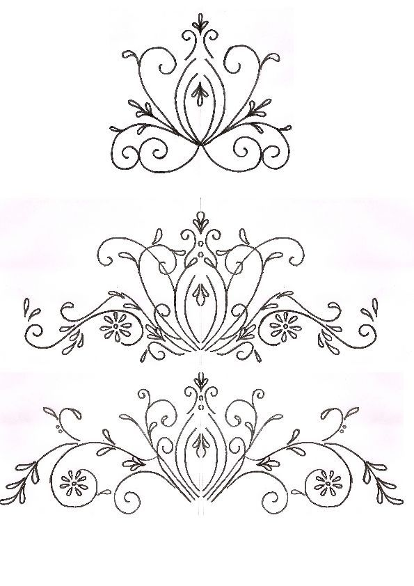 595x842 27 Images Of Piping Scrolls Template