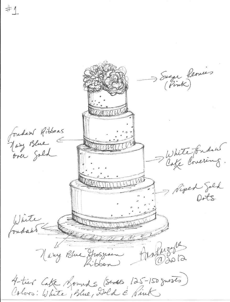 963x1264 Make Sketches Drawn Layer Pencil And In Color Drawn Wedding Cake