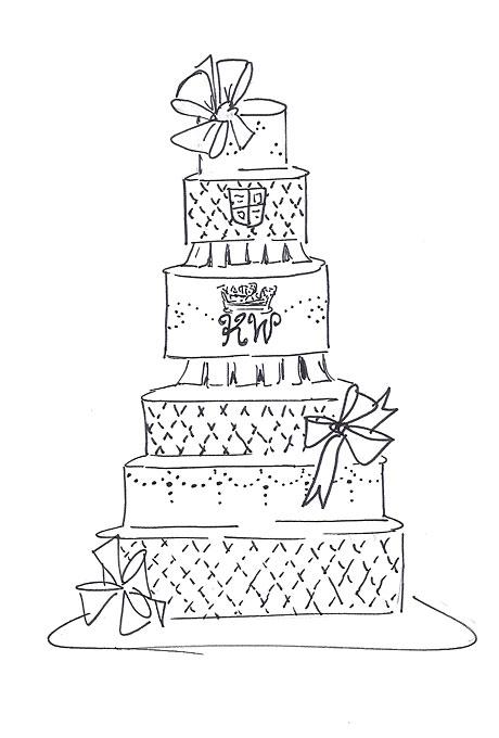 460x680 6 Extreme Wedding Cakes Sketches Photo