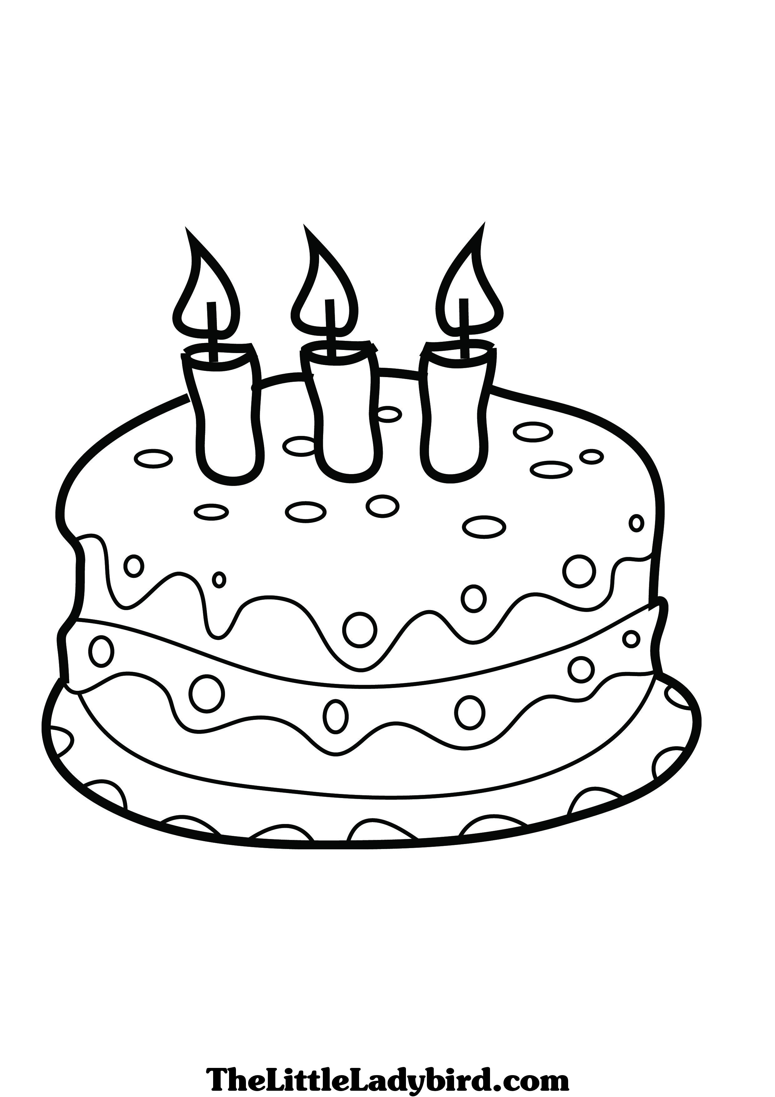 2480x3508 Cake Coloring Pictures For Kids Tags Cake Coloring Picture How
