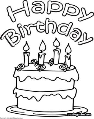 316x400 Coloring A Delicious Birthday Cake Coloring Pages For Boys