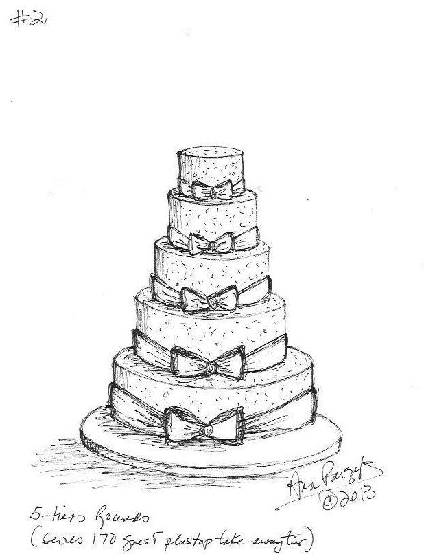 618x806 Drawn Cake Sketched