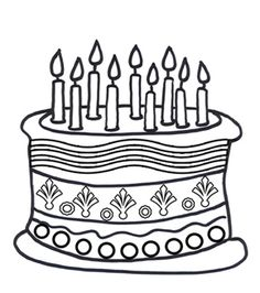236x266 Fascinating Birthday Cake Outline Happy Clering Sheet Coloring