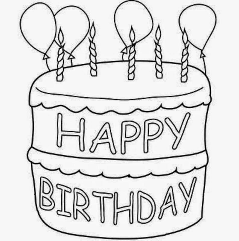 794x799 Happy Birthday Cake Drawing Happy Birthday Bro