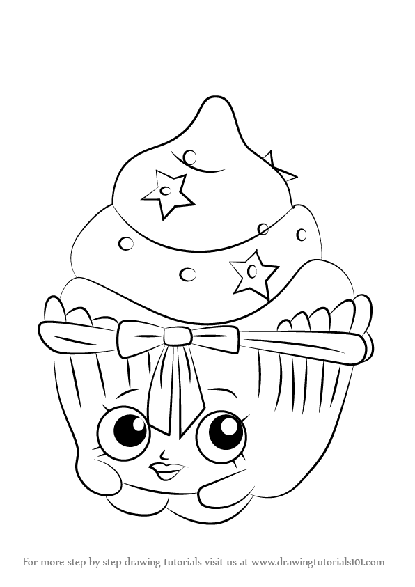 596x843 Learn How To Draw Patty Cake From Shopkins (Shopkins) Step By Step