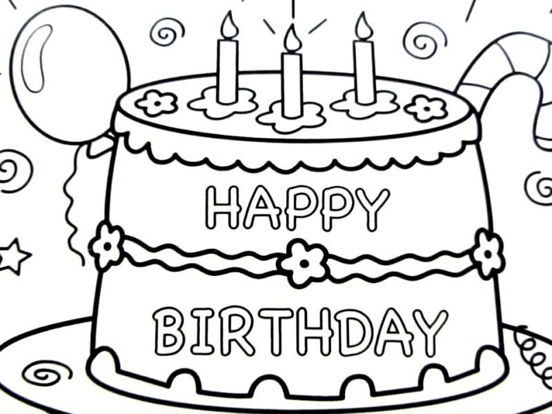 800x600 Spectacular Inspiration Cake Drawing And Charming Happy Birthday
