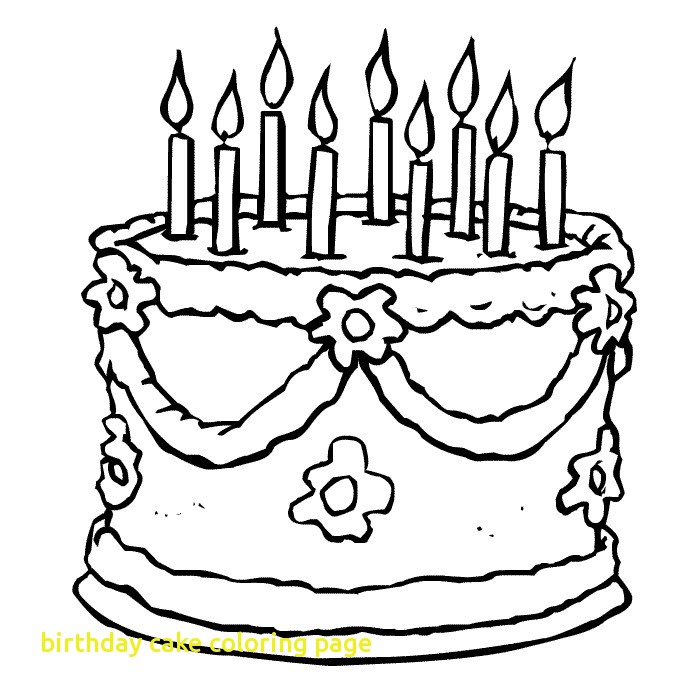 700x700 Birthday Cake Coloring Page With Drawing Birthday Cake Coloring
