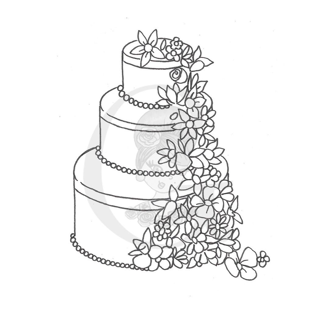 1024x1024 Drawn Cake Wedding Cake