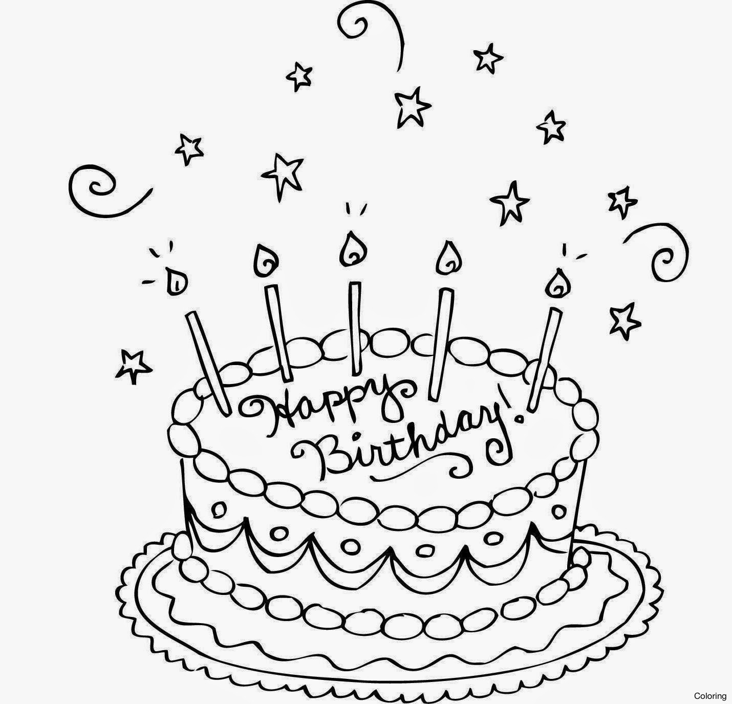 1430x1375 Ptodkxggc Drawing Of A Cake Coloring Very Nice Drawings Birthday