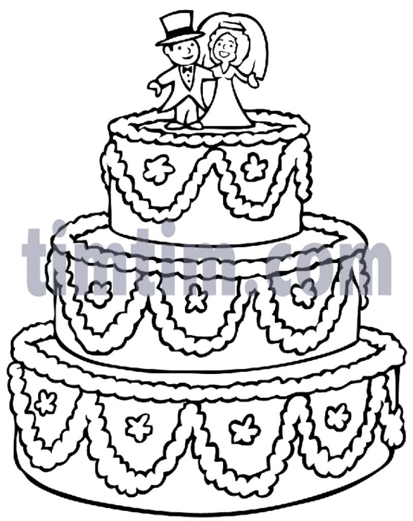 813x1024 Wedding Cake Free Drawing Of A Big Wedding Cake Bw