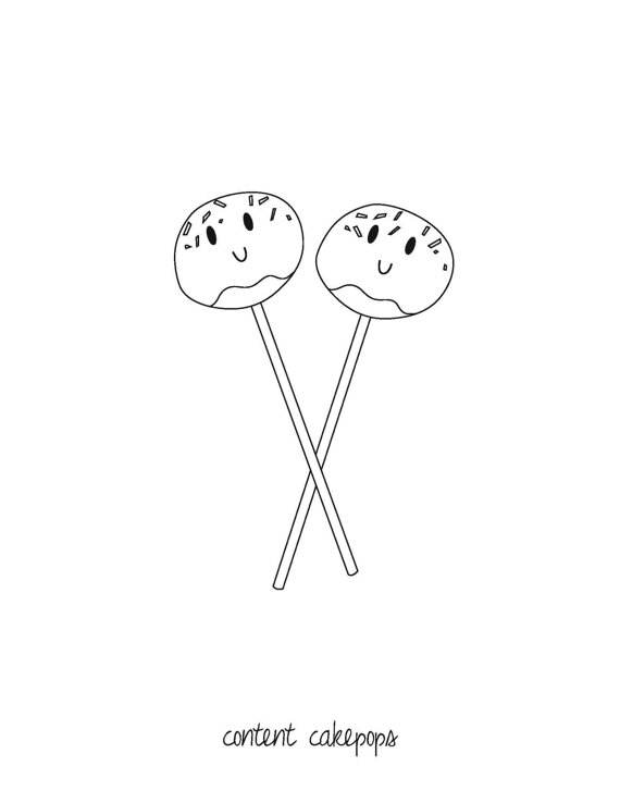 570x738 Downloadable Coloring Page Content Cakepops By Thekneppraths Art