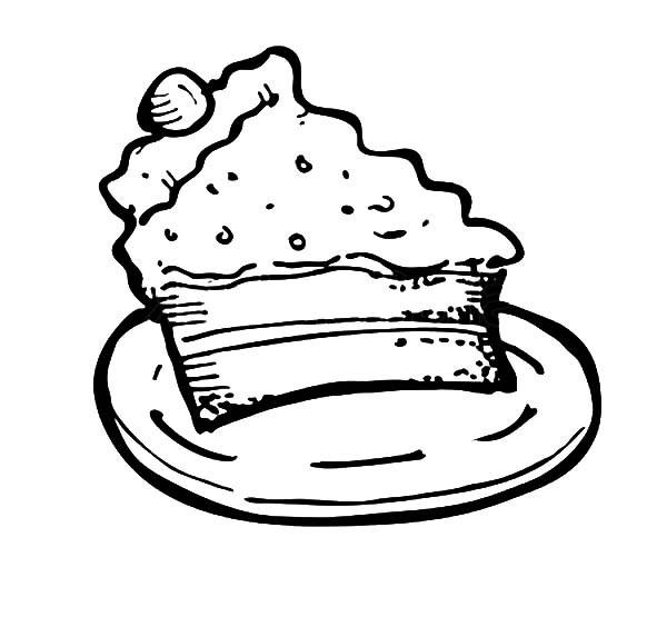 600x555 Cake Slice For Kids Coloring Pages Best Place To Color
