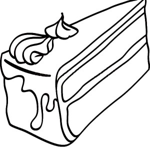 300x300 Cake Slice With Chocolate Topping Coloring Pages Best Place To Color