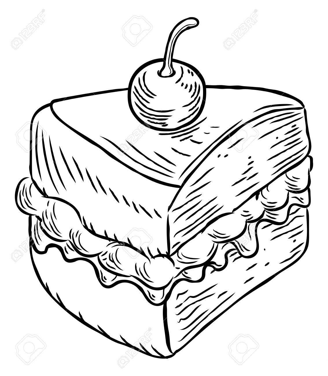 1134x1300 A Jam And Cream Victoria Sponge Cake Slice With Cherry, Hand