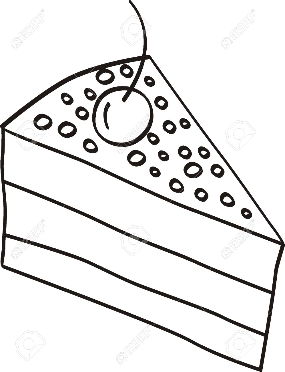997x1300 Piece Of Cake Doodle Royalty Free Cliparts, Vectors, And Stock
