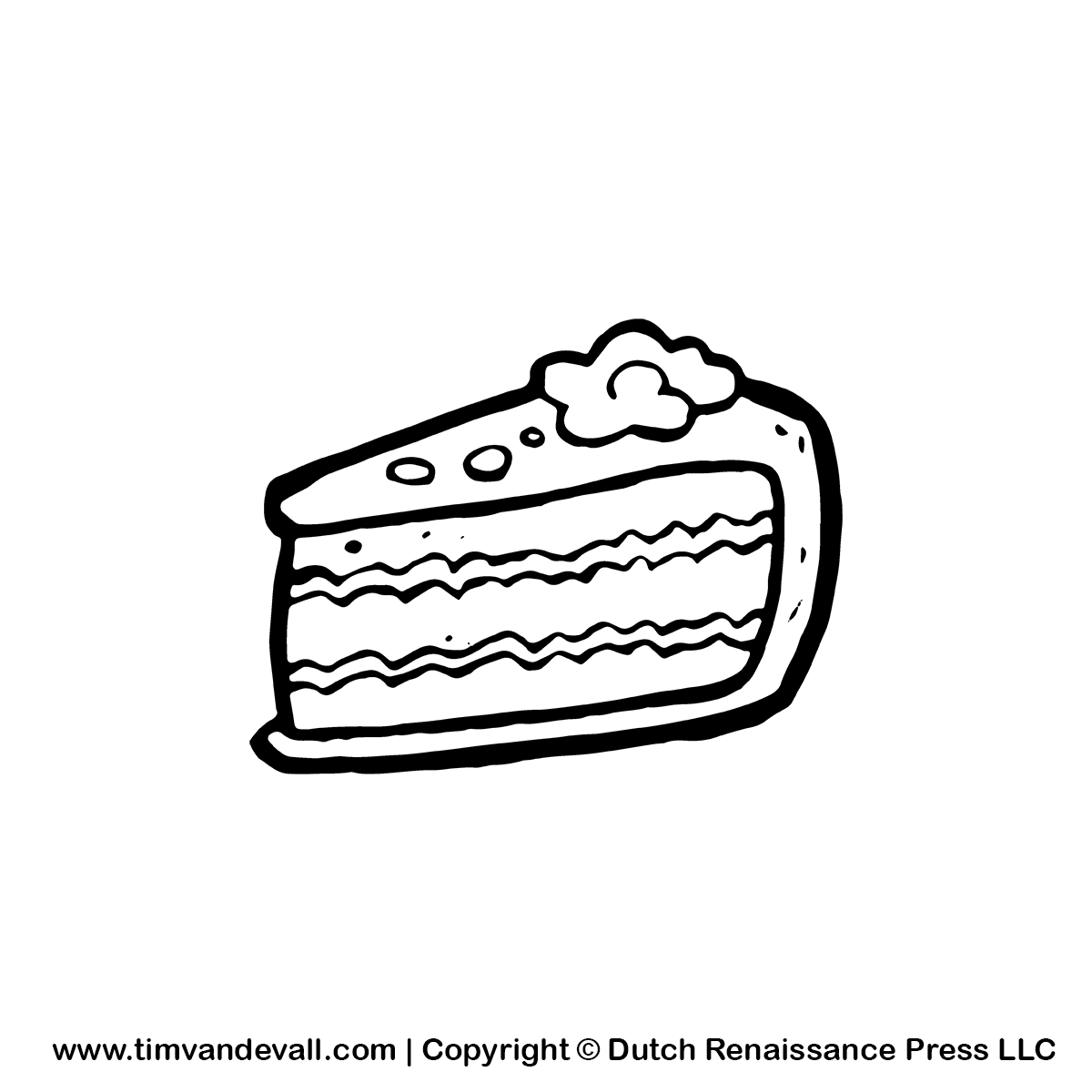 Chocolate Cake Images Black And White Drawings