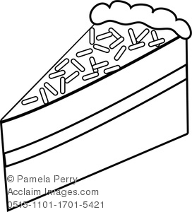 272x300 Art Illustration Of A Piece Of Layer Cake Coloring Page