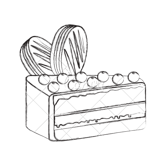 550x550 Yummy Sweet Cake Slice
