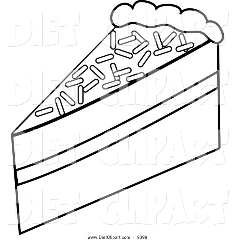 784x800 Cake Slice Clipart Black And White