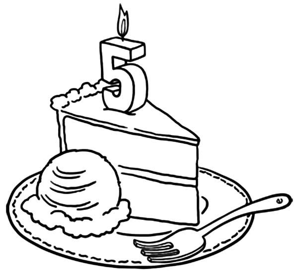 600x554 Birthday Cake Slice Drawing 4