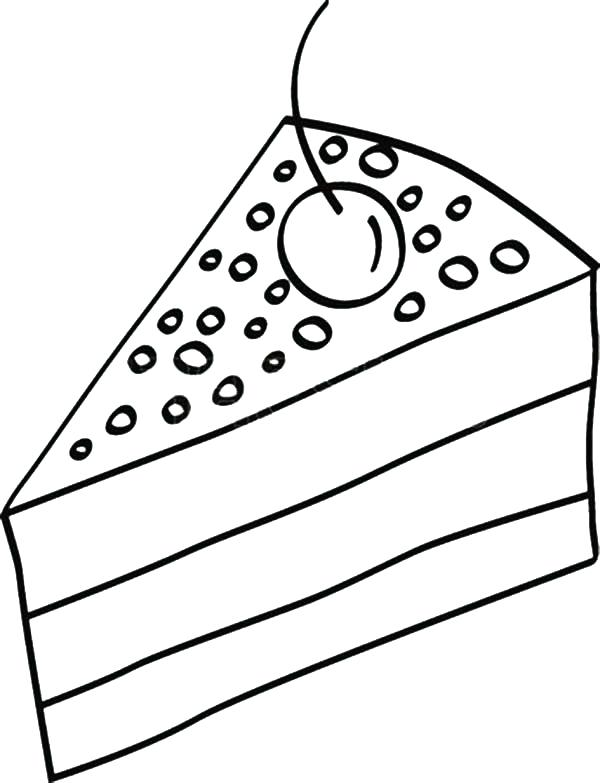 600x783 Cake Coloring Sheet Cake Coloring Pages With Cherry Cupcake