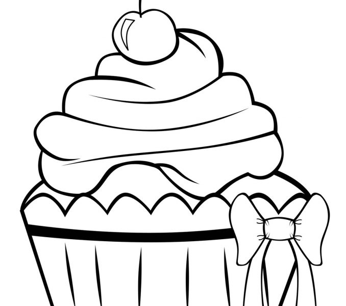 678x600 Cakes To Colour In Kids Coloring