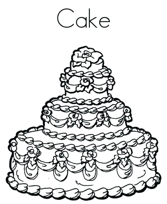 580x707 New Birthday Cake Coloring Page Printable Image Colouring Pictures