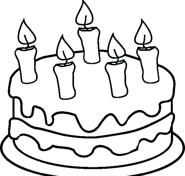 600x571 Preschool Birthday Cake Coloring Pages Wecoloringpage