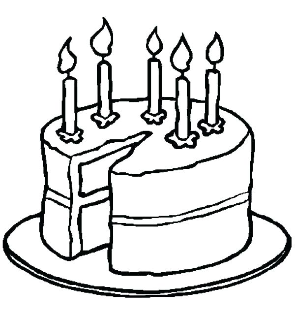600x646 Coloring Pages Of Cakes