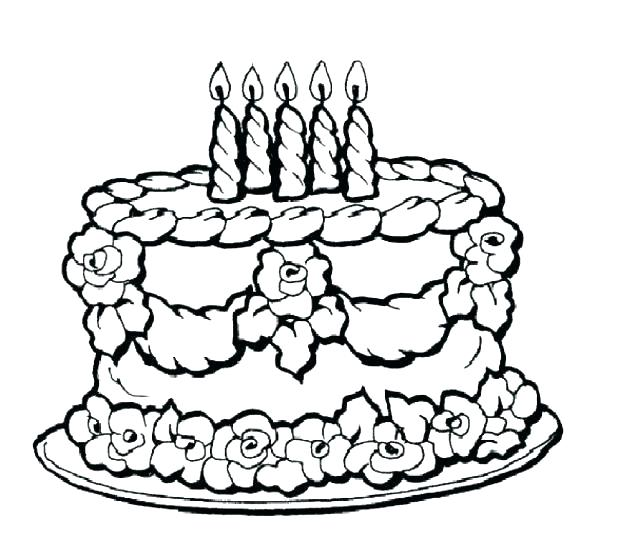 618x559 Birthday Cake Coloring Pages Preschool How To Draw Best Coloring