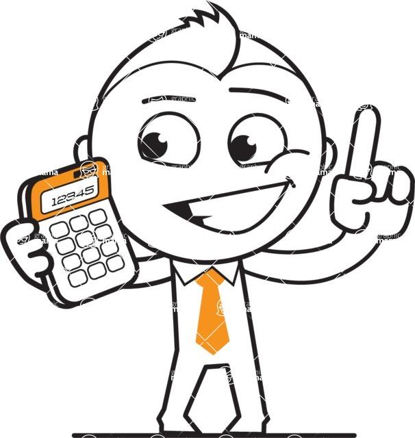 606x640 Vector Business Guy Cartoon Character