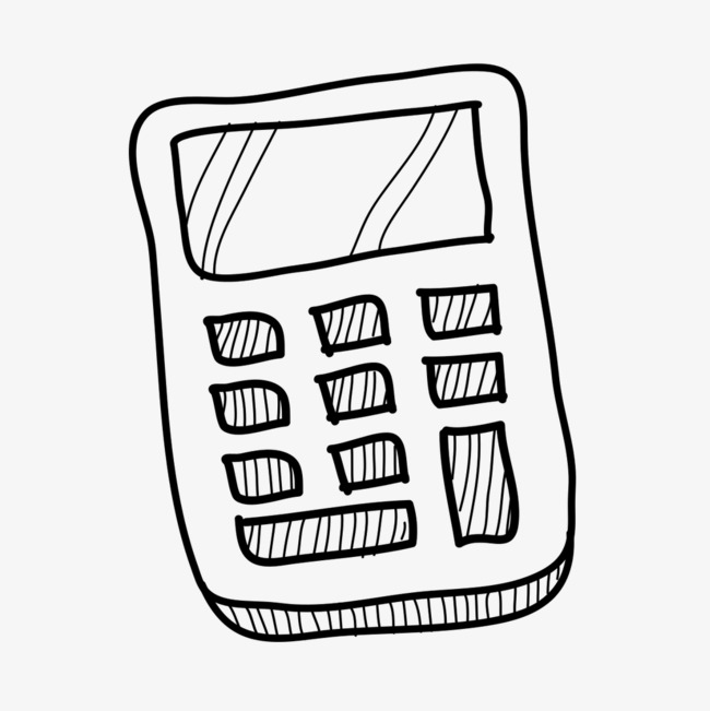 650x651 Vector Hand Drawn Calculator, Vector Calculator, Calculator, Hand