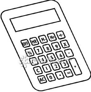 296x300 Black And White Calculator