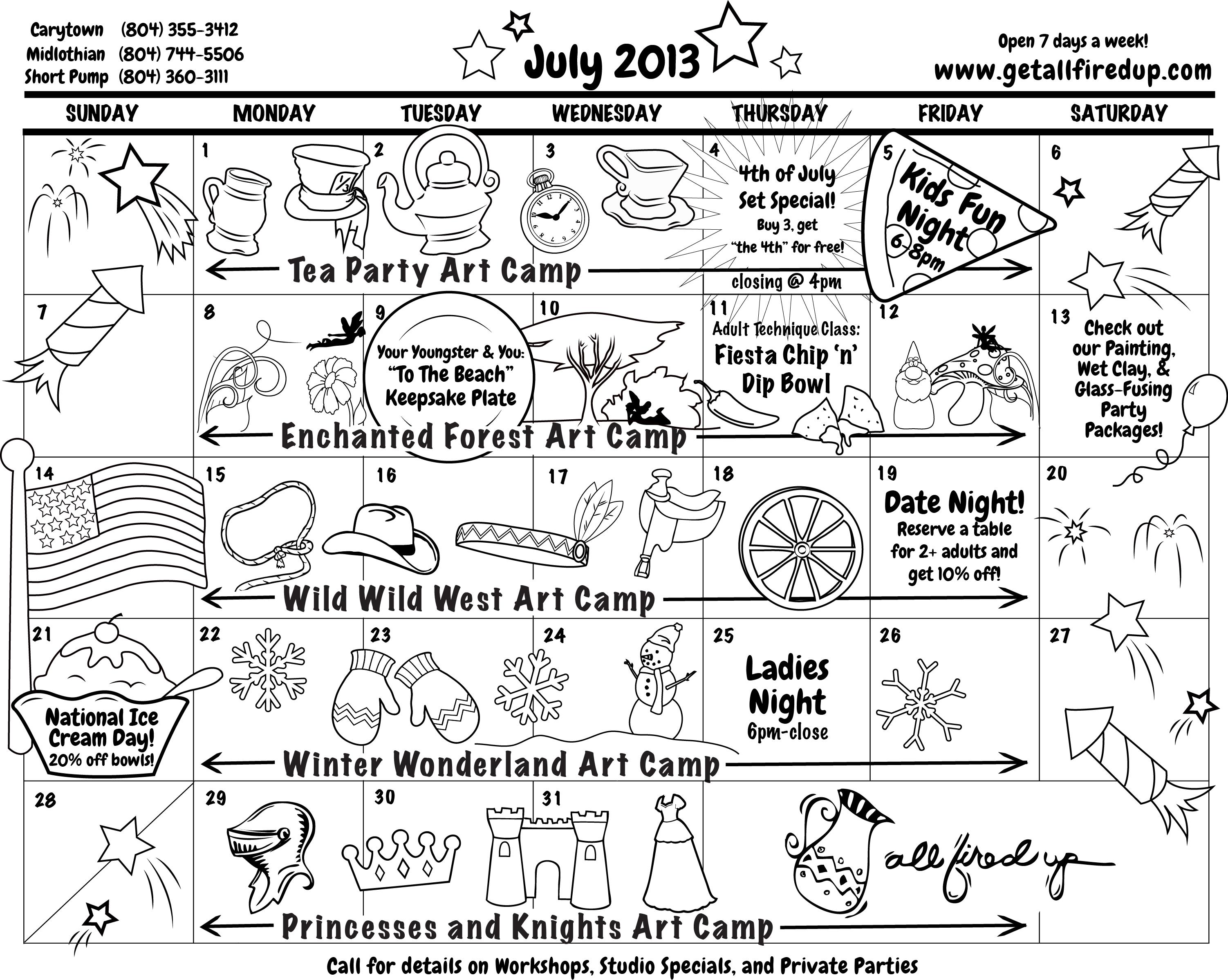 Calendar Drawing