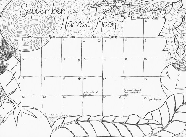 629x464 september 2017 free calendar coloring page studio inkcycle free