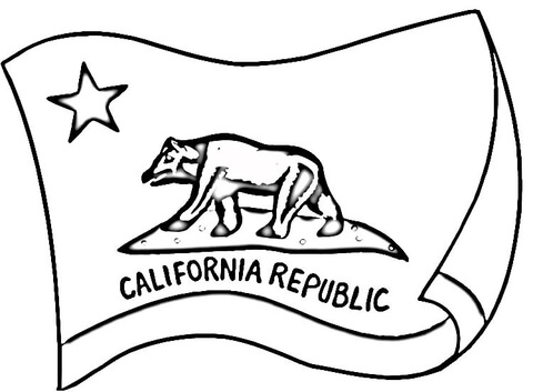 480x353 California Flag Coloring Page Free Printable Coloring Pages