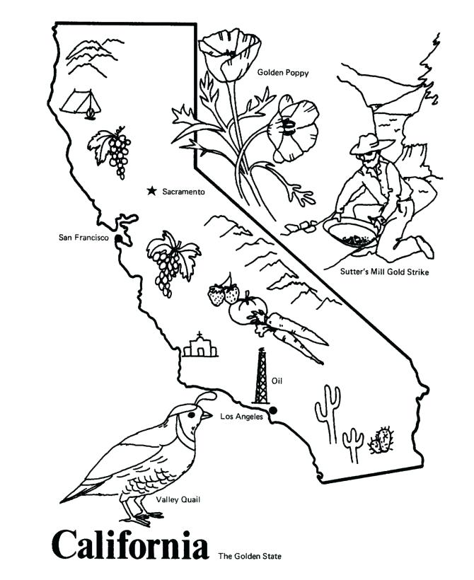 670x820 California Flag Coloring Page Ca Map Coloring Page California