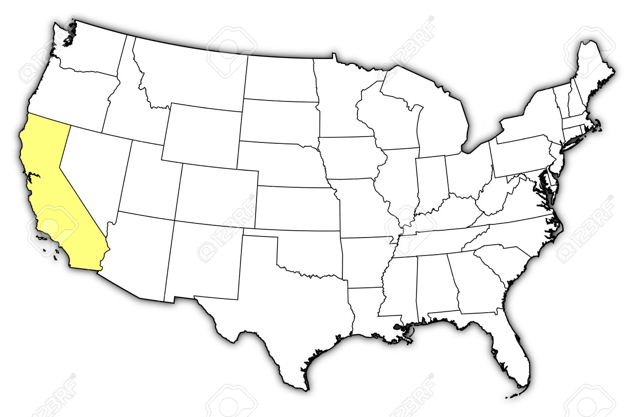 1300x855 Political Map Of United States With The Several States Where