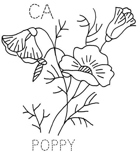 451x500 Poppy Stencil