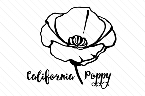 580x386 State Flower California Poppy SVG Cut File By Creative Fabrica
