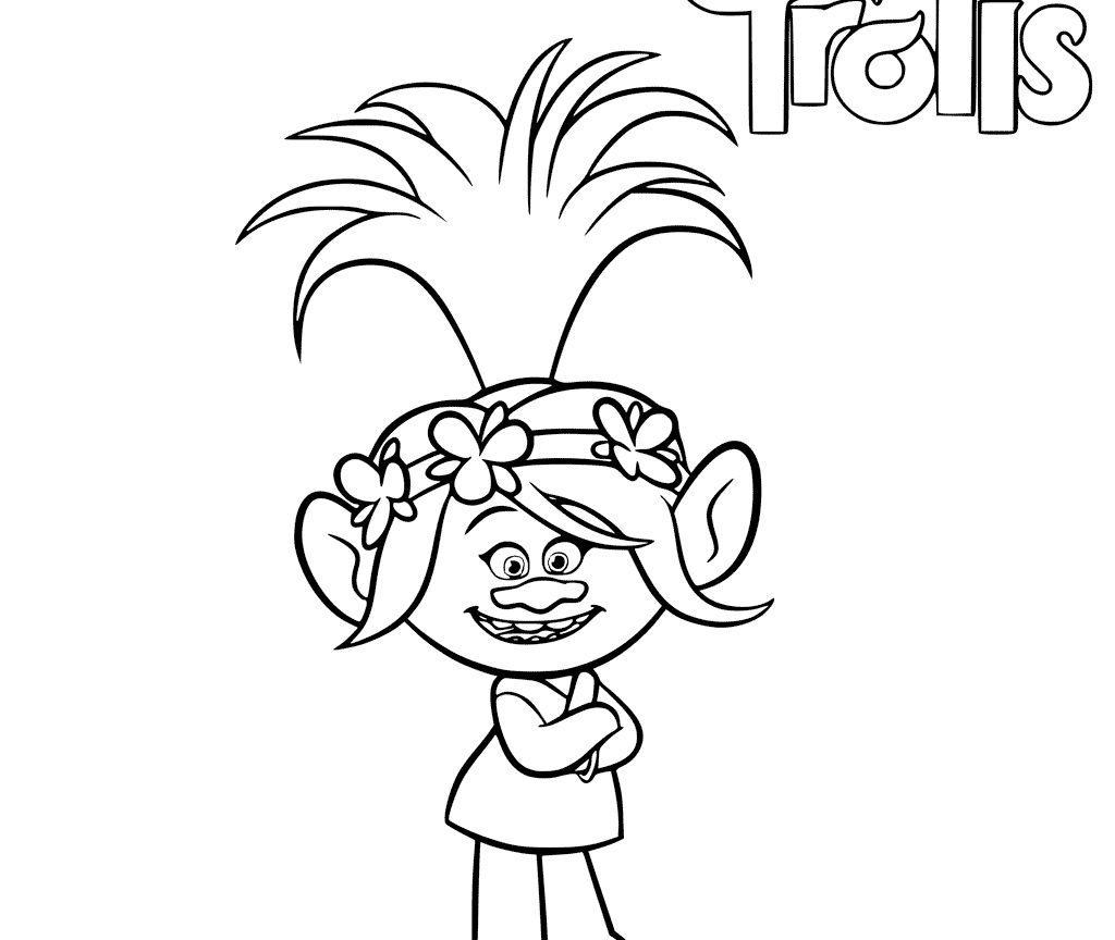 1024x864 Trolls Coloring Pages Poppy Free Printable From Page
