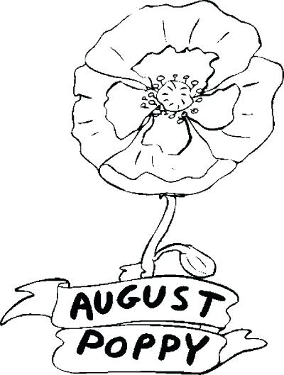 400x529 Poppy Coloring Page August Poppy Coloring Page California Poppy