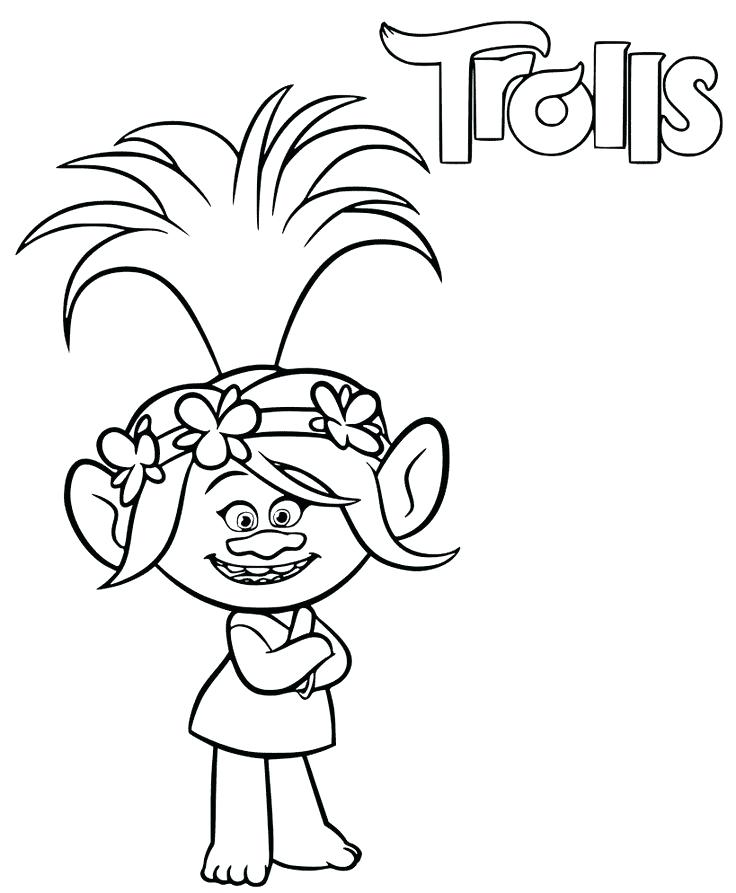 736x893 Poppy Coloring Page