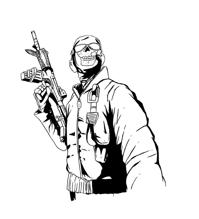Call Of Duty Sketch At Paintingvalley Com Explore Collection Of
