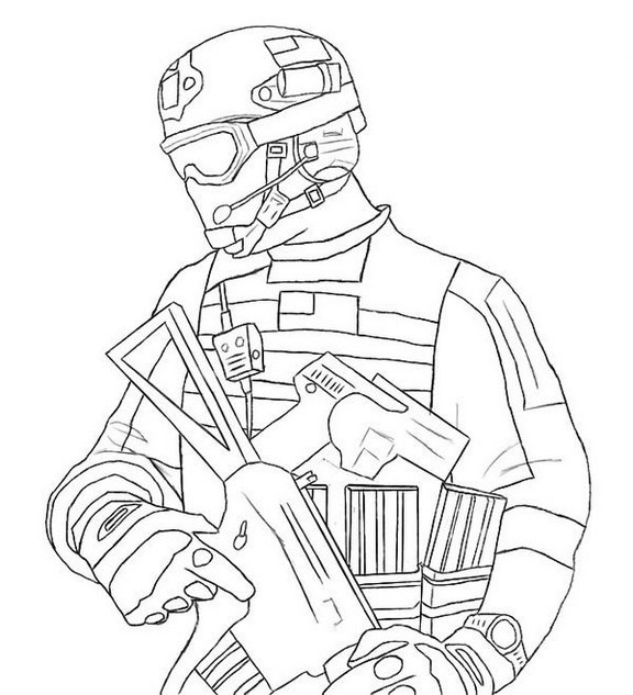 576x633 Top 9 Call Of Duty And Halo Coloring Pages For Boys