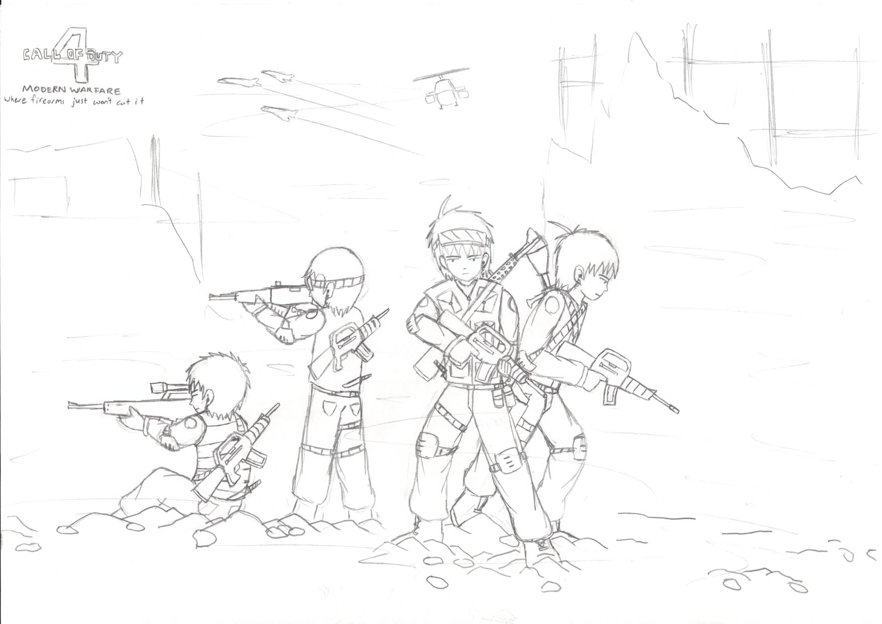 1754x1241 Call Of Duty 4 Doodle 1 By Gdouglas56