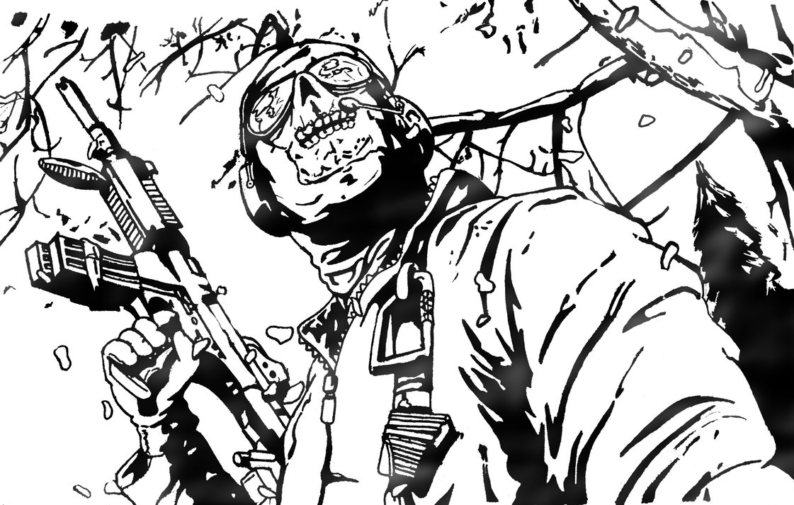 1121x713 Call Of Duty Black Ops Coloring Pages Home